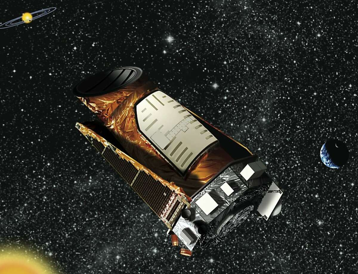 Artist rendering of NASA's Kepler. The mission will spend three and a half years surveying more than 100,000 sun-like stars in the Cygnus-Lyra region of our Milky Way galaxy. It is expected to find hundreds of planets the size of Earth and larger at various distances from their stars. If Earth-size planets are common in the habitable zone, Kepler could find dozens; if those planets are rare, Kepler might find none.