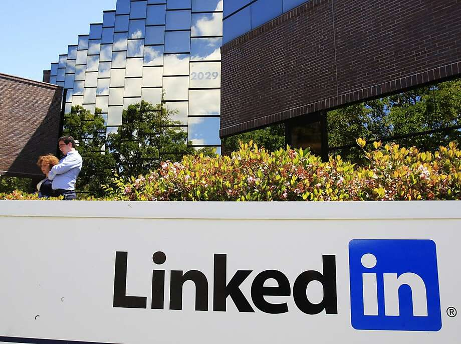 FILE - In this May 9, 2011 file photo, LinkedIn Corp., the professional networking Web site, displays its logo outside of headquarters in Mountain View, Calif. LinkedIn jacked up the price it's asking for shares of its initial public offering by 30 percent Tuesday, May 17, 2011. Photo: Paul Sakuma, AP