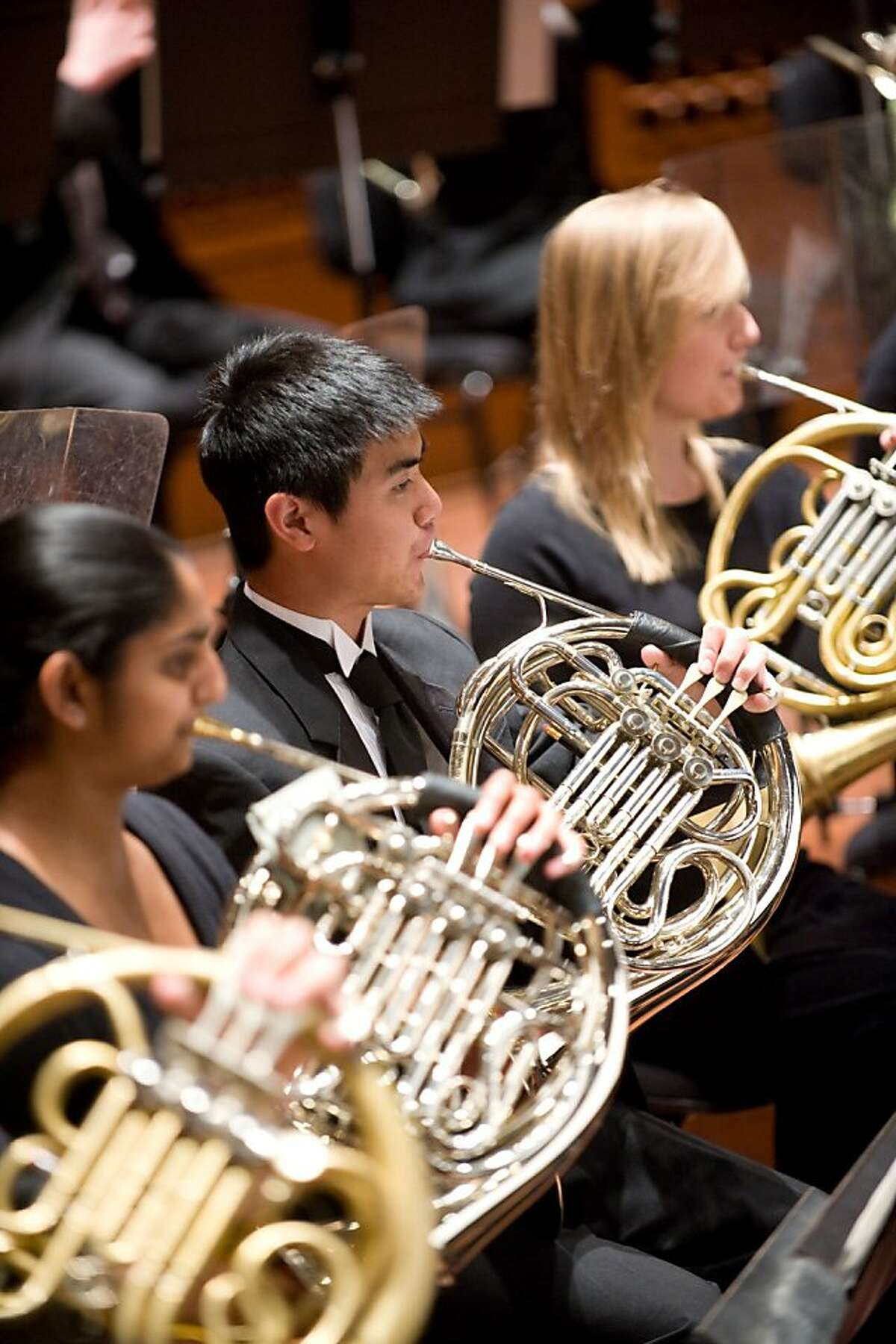Members of the San Francisco Symphony Youth Orchestra