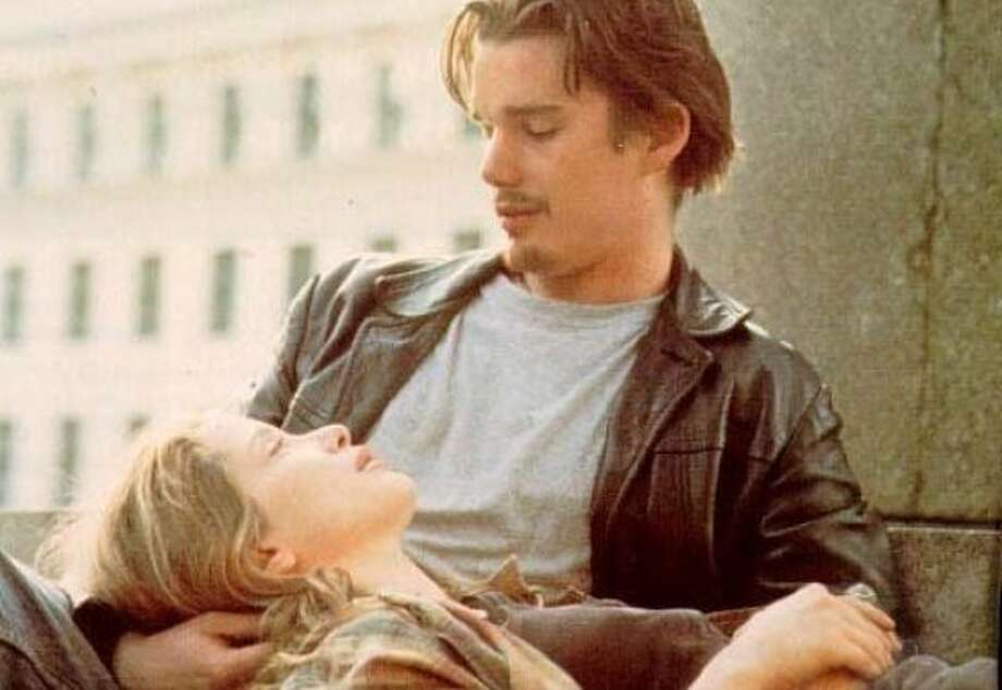 """Julie Delpy and Ethan Hawke in """"Before Sunrise"""" (1995). Photo: Columbia Pictures 1995"""