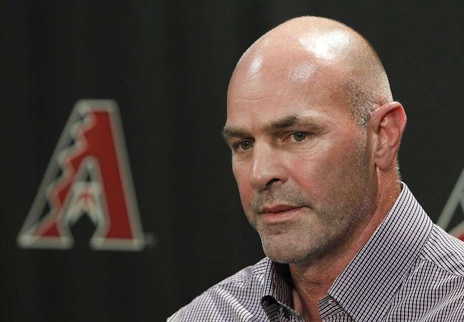 Arizona Diamondbacks manager Kirk Gibson answers a question during a news conference Monday, Oct. 4, 2010, in Phoenix. Gibson became interim manager after a midseason shake-up; he was given the permanent job Monday. Photo: Ross D. Franklin, AP