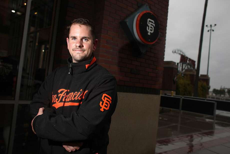 "Sean Chapin of San Francisco who started an online petition to get the Giants to produce an ""It Gets Better"" video aimed at gay/lesbian/transgender youth, is seen at AT&T Park  in San Francisco, Calif., Monday, May 16, 2011.  The team has agreed and the Giants will be the first pro sports team to make one of the videos. Photo: Lea Suzuki"