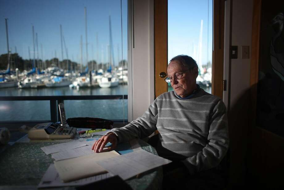 Roger Boyvey, who lives on his houseboat in the Berkeley Marina, is facing fee increases to live on his houseboat in Berkeley, Calif., Friday, May 13, 2011. Berkeley Marina users are facing large fee increases as Berkeley faces  a big budget shortfall. Photo: Lea Suzuki, The Chronicle