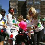 An impromptu twister game took place on Fell Street during the 100th annual Bay to Breakers race in San Francisco, Calif., on Sunday, May 15, 2011.