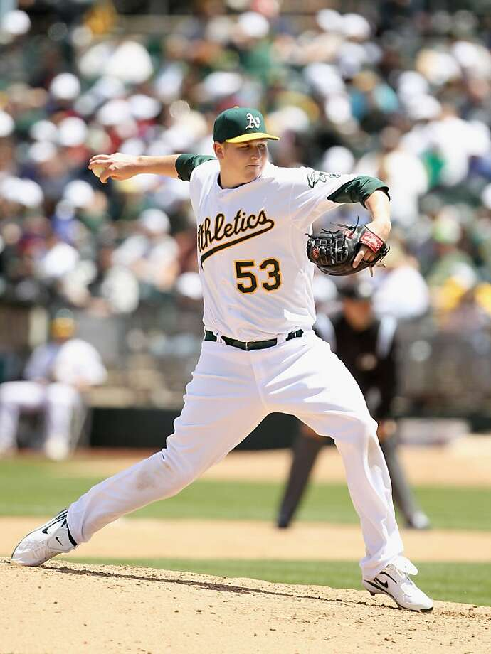 OAKLAND, CA - MAY 15:  Trevor Cahill #53 of the Oakland Athletics pitches against the Chicago White Sox at Oakland-Alameda County Coliseum on May 15, 2011 in Oakland, California. Photo: Ezra Shaw, Getty Images