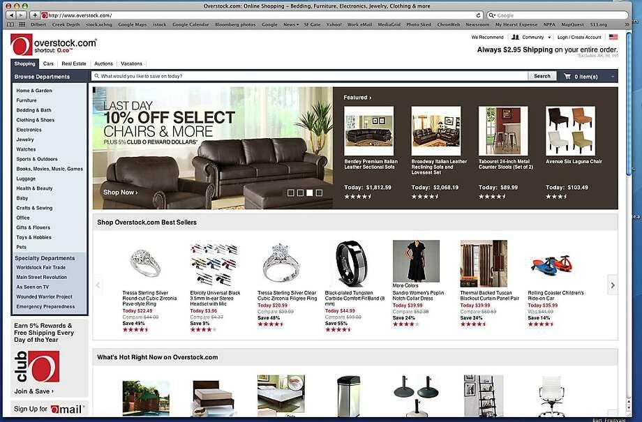screenshot from overstock.com, an online retailer Photo: Overstock.com