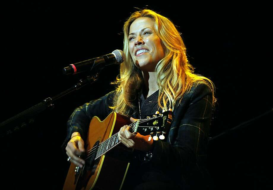 Sheryl Crow sings at the Bridge School Concert at the Shoreline Amphitheatre in Mountain View, California on October 24, 2009. Photo: John Storey, Special To The Chronicle