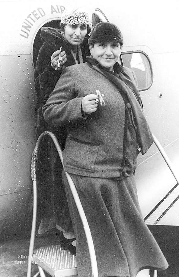 Carl Van Vechten, Gertrude Stein and Alice B. Toklas Departing Newark Airport with Zuni Fetishes, November 7, 1934 Carl Van Vechten, Gertrude Stein and Alice B. Toklas Departing Newark Airport with Zuni Fetishes, November 7, 1934, gelatin silver print. Courtesy of the Rare Books and Special Collections, Boatwright Memorial Library, The University of Richmond, Richmond, Virginia, Carl Van Vechten-Mark Lutz Collection, Courtesy of the Carl Van Vechten Trust, Seeing Gertrude Stein: Five Stories, Contemporary Jewish Museum (May 12, 2011 – September 6, 2011). Photo: Contemporary Jewish Museum