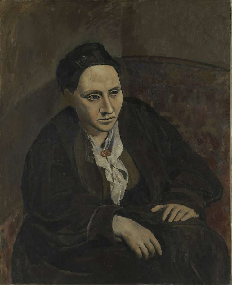 01.Pablo Picasso, Gertrude Stein, 1905?06; oil on canvas; 39 3/8 x 32 in. (100 x 81.3 cm); The Metropolitan Museum of Art, New York, bequest of Gertrude Stein, 1946; ? Estate of Pablo Picasso / Artists Rights Society (ARS), New York; photo: The Metropolitan Museum of Art, NY Photo: Sfmoma