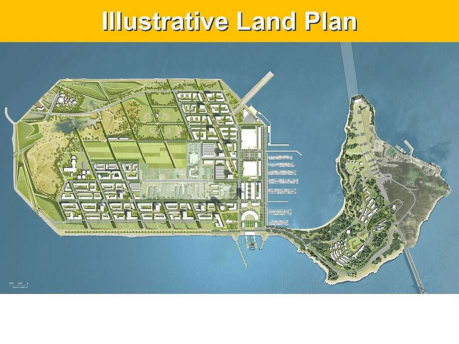 Rather than redevelop Treasure Island following streets that now exist, plans call for a new terrain with extensive parkland. Two neighborhoods would fan out from a mixed-use district that includes three buildings dating to the 1939 Golden Gate International Exposition. Photo: T.I. Community Development, LLC