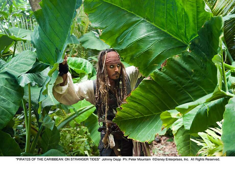 Captain Jack Sparrow (JOHNNY DEPP) in Pirates of the Caribbean: On Stranger Tides Photo: Peter Mountain, Disney