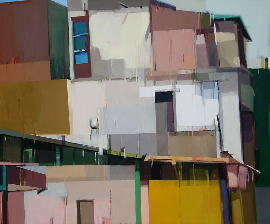 """""""A Quiet Town #98"""" (2011) oil on canvas by Suhas Bhujbal Photo: Unknown, Dolby Chadwick Gallery, S.f."""