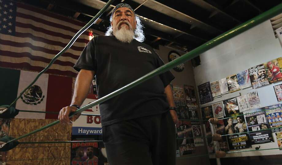 Boxing coach Joe Olivarez, on Thursday May 12, 2011 inside the boxing ring where Andre Ward and Nonito Donaire trained during their early careers, at the U.S. Karate and Boxing Gym in Hayward, Ca.. Coach Olivarez was an early influence on local boxers Andre Ward and Nonito Donaire who both got their start with the same coach. Photo: Michael Macor, The Chronicle