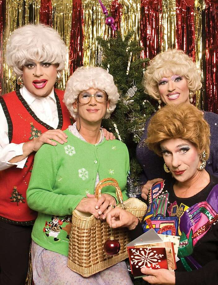 "Heklina (from left), Cookie Dough, Pollo Del Mar and Matthew Martin in ""The Golden Girls: The Christmas Episodes."" Photo: Jose Guzman Colon"