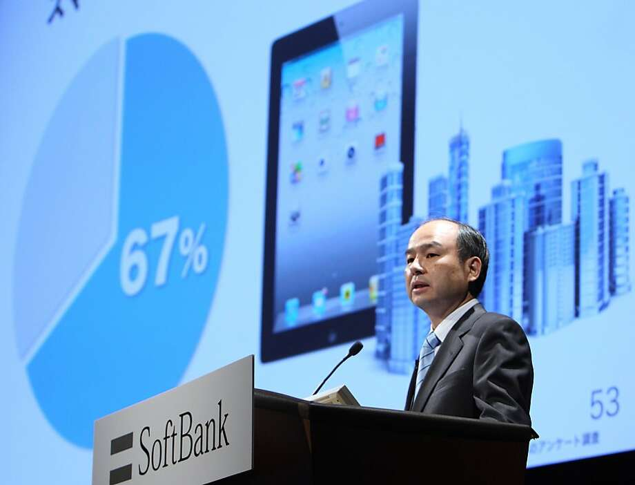 Masayoshi Son, president and chief executive officer of Softbank Corp., speaks during a news conference in Tokyo, Japan, on Monday, May 9, 2011. Softbank Corp., the exclusive provider of Apple Inc.'s iPhone in Japan, reported net income almost doubled to 189.71 billion yen in the year ended in March compared with 96.72 billion yen a year earlier. Photographer: Tomohiro Ohsumi/Bloomberg  *** Local Caption *** Masayoshi Son Photo: Tomohiro Ohsumi, Bloomberg
