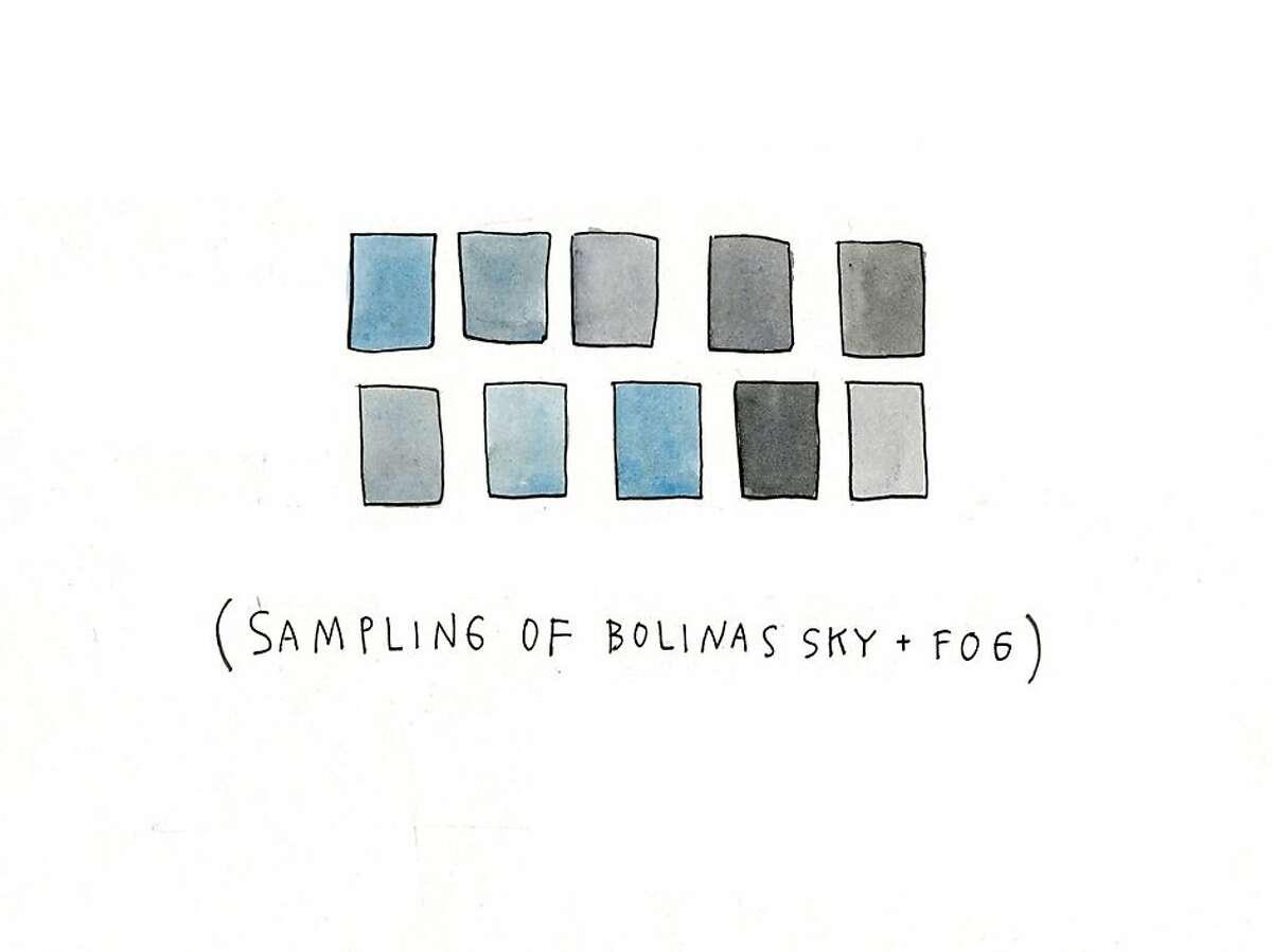 """Sampling of Bolinas Sky and Fog,"" from MacNaughton's ""Meanwhile: Bolinas Winemakers"" series (2011)."