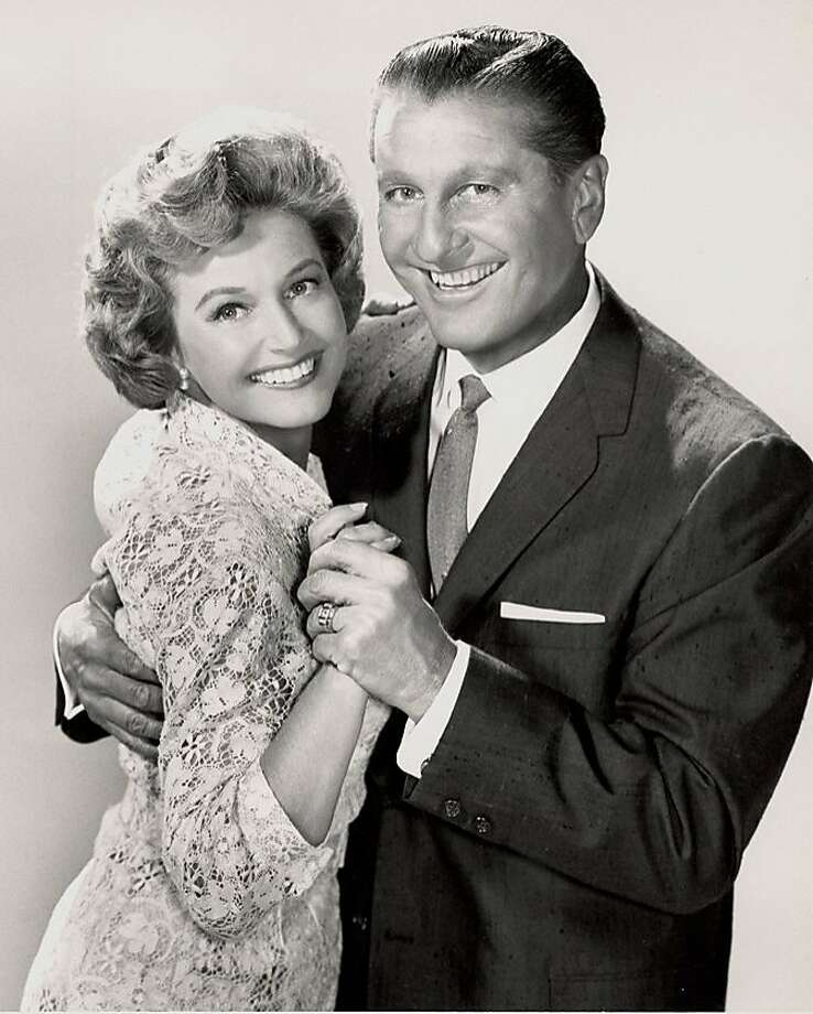 """This undated image provided by The Lawrence Welk Show shows Lawrence Welk embracing Norma Zimmer, who was known as """"The Champagne Lady,"""" who died May 10, 2011 at her home in Brea, Calif. Photo: AP"""