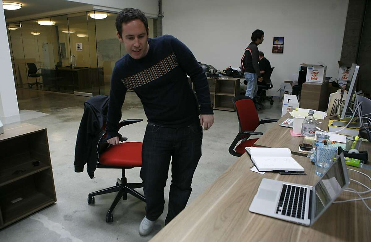 Joe Fernandez, CEO and co-founder of Klout, a company that rates social media influence, poses in the Klout office at 77 Stillman street, San Francisco, on Wednesday March 9, 2011.