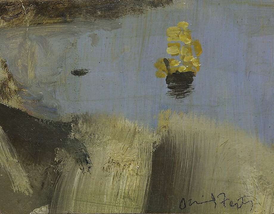 """HMS Bounty"" (2011) oil on panel by David Fertig Photo: Gals07, Paul Thiebaud Gallery, S.f."