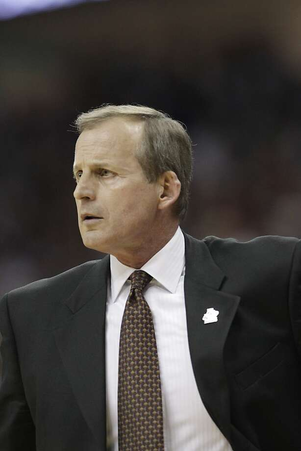 Texas head coach Rick Barnes watches action during the first half of a West Regional NCAA tournament third-round college basketball game against Arizona on Sunday, March 20, 2011, in Tulsa, Okla. (AP Photo/Charlie Riedel) Photo: Charlie Riedel, ASSOCIATED PRESS