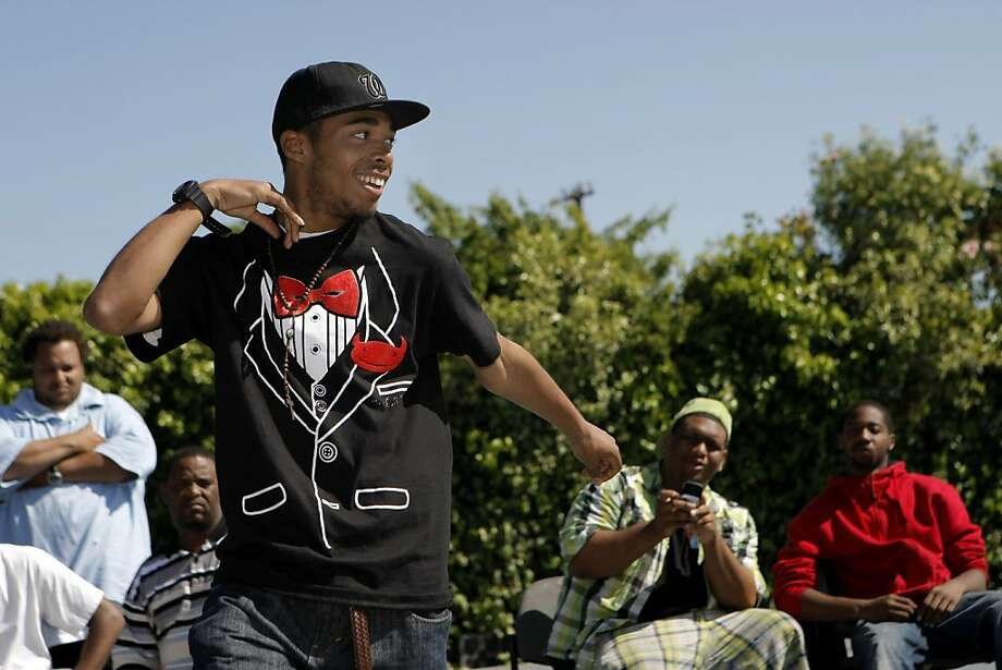 """Akeem """"Creation"""" Hayes, 16, dances during the turfing competition. Turfin 24/7 put on the second playoff of the 2011 Turf Dance competition at the Allendale Recreation Center in Oakland, Calif., on Saturday, April 30, 2011. Photo: Thomas Levinson, The Chronicle"""