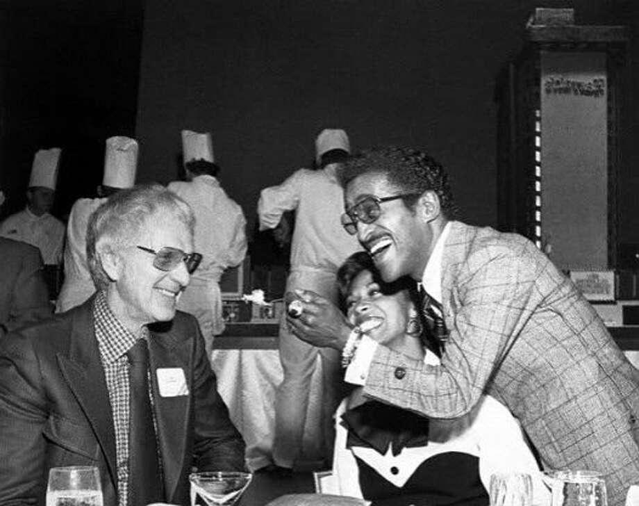 Bill Harrah with Sammy Davis Jr. and his wife, Altovise, in Reno in 1973. Photo: Harrah's 1973