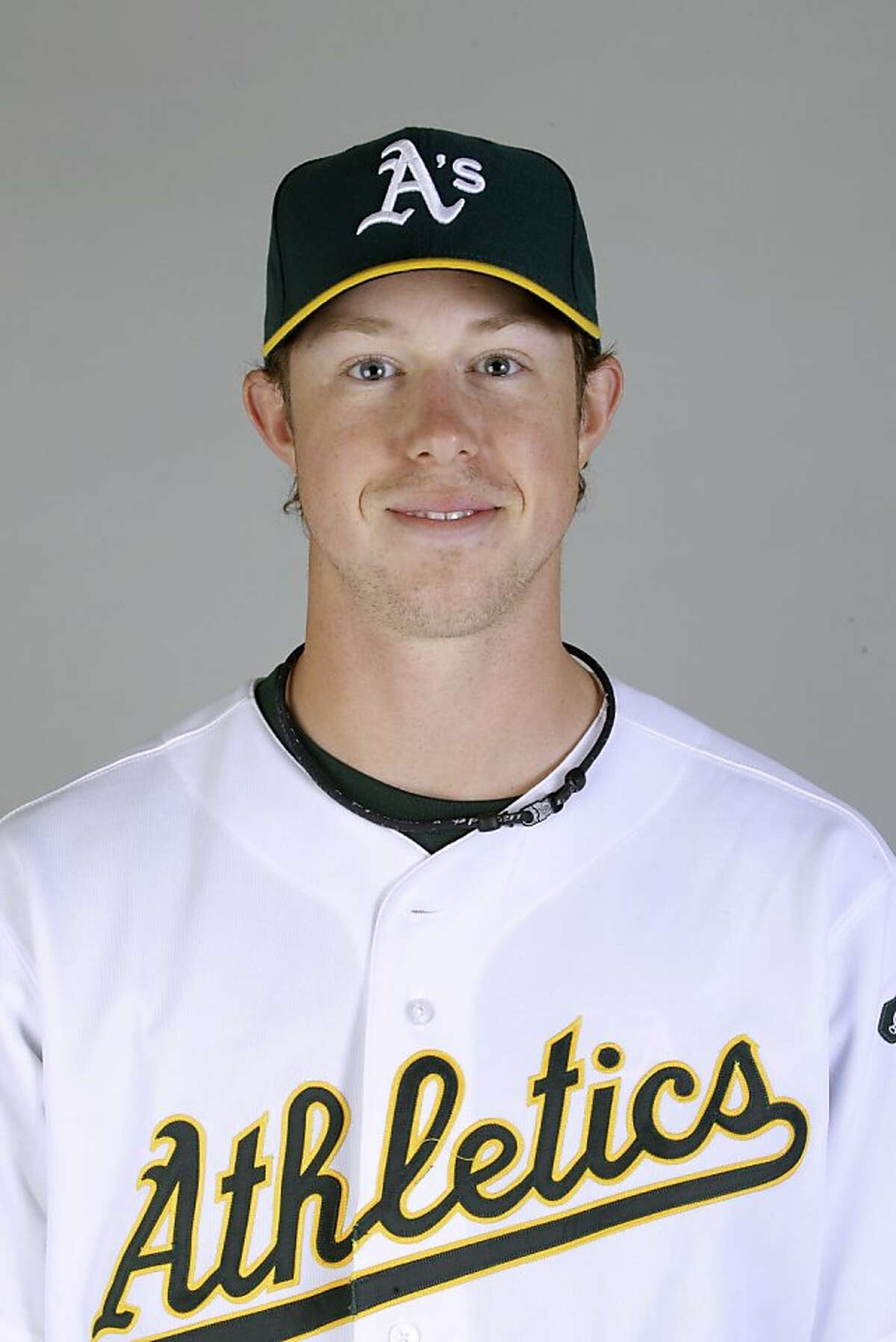 This is a 2011 photo of Trystan Magnuson of the Oakland Athletics baseball team. This image reflects the Oakland Athletics active roster as of Thursday, Feb. 24, 2011 when this image was taken.