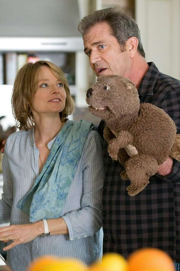 """Jodie Foster and Mel Gibson in """"The Beaver,"""" about a man who choses to communicate through a Beaver puppet. Photo: Summit Entertainment"""