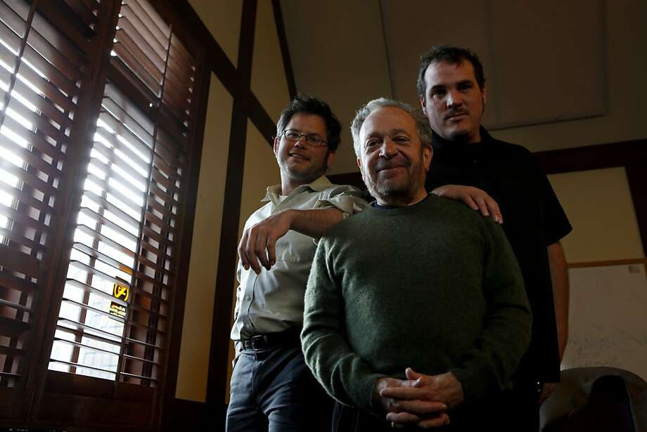 Former Clinton Sec. of Labor Robert Reich (center) with Berkeley filmmaker Jacob Kornbluth (left) and Raub Shapiro (right), who produced Reich's video on the public option in health care reform. Photo taken Monday, Dec. 7, 2009, in Berkeley, Calif. Photo: Lacy Atkins, The Chronicle