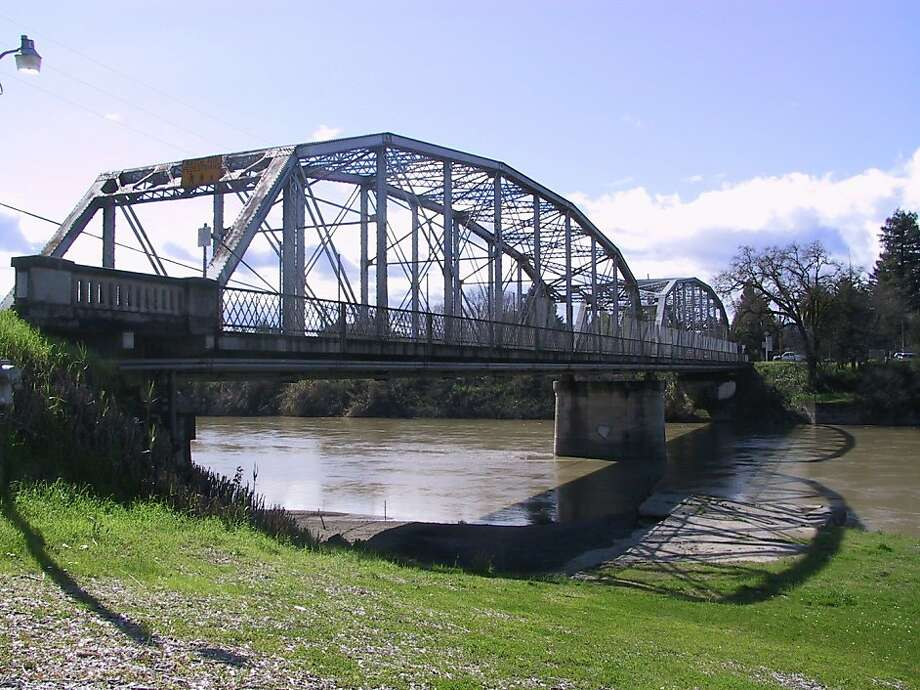 The Healdsburg Memorial Bridge, built in 1921, was placed on the National Register of Historic Places in April, 2011 Photo: Mel Amato