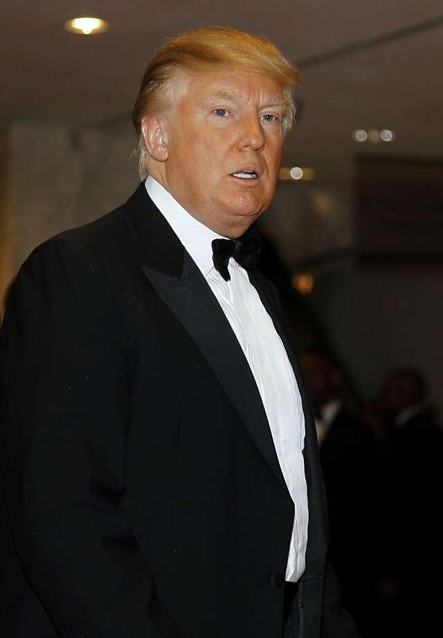 Donald Trump arrives for the White House Correspondents Dinner Saturday, April 30, 2011 in Washington. Photo: Alex Brandon, AP