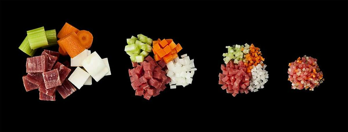 Cutting stock components into small pieces increases the rate at which flavor is leached out.