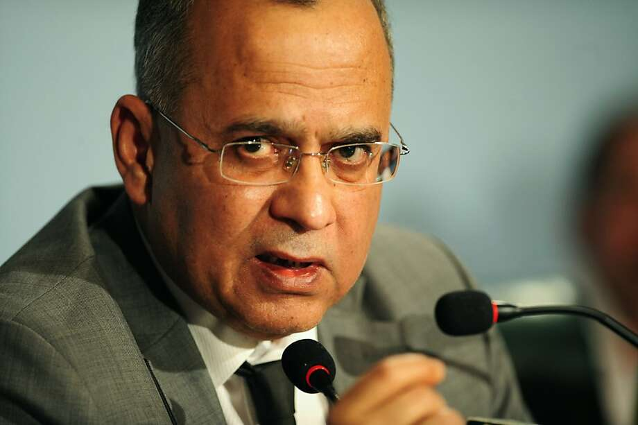 Pakistani foreign secretary Salman Bashir briefs the media about the killing of Osama bin Laden at the foreign ministry in Islamabad on May 5, 2011.  Bashir said that the accusations that Pakistan's intelligence agency colludes with Al-Qaeda are false andcannot be substantiated. Photo: Farooq Naeem, AFP/Getty Images