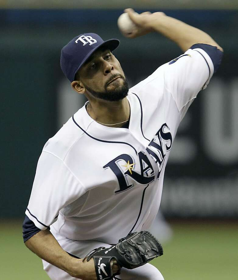 Tampa Bay Rays starting pitcher David Price delivers a first inning pitch to the Toronto Blue Jays during a baseball game Thursday, May 5, 2011 in St. Petersburg, Fla. Photo: Chris O'Meara, AP