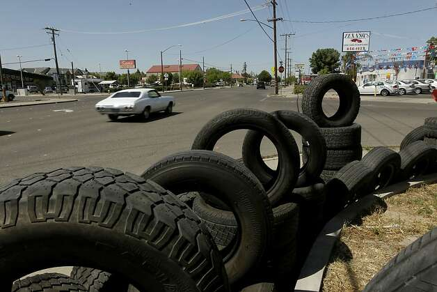 The Tire Shop, on one of the main streets that run through Turlock, Ca. on Wednesday May 4, 2011. The town is where the San Francisco 49ers second round draft pick, Colin Kaepernick grew up. Photo: Michael Macor, The Chronicle