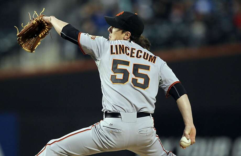 Tim Lincecum of the San Francisco Giants throws against the New York Mets at Citi Field in New York, Wednesday, May 4, 2011. (Jim McIsaac/Newsday/MCT) Photo: Jim McIsaac, MCT