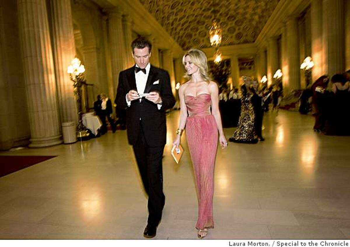San Francisco Mayor Gavin Newsom and Jennifer Siebel Newsom attend the San Francisco Ballet Opening Night Gala at the War Memorial Opera House in San Francisco, Calif., on Wednesday, January 21, 2008. Siebel Newsom wore a gown by Emanuel Ungaro.