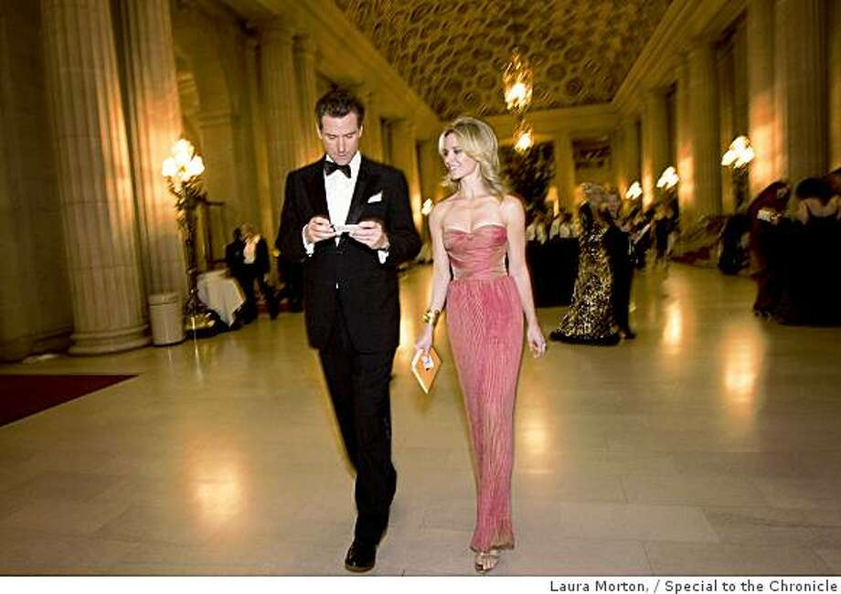 San Francisco Mayor Gavin Newsom and Jennifer Siebel Newsom attend the San Francisco Ballet Opening Night Gala at the War Memorial Opera House in San Francisco, Calif., on Wednesday, January 21, 2008.  Siebel Newsom wore a gown by Emanuel Ungaro. Photo: Laura Morton,, Special To The Chronicle