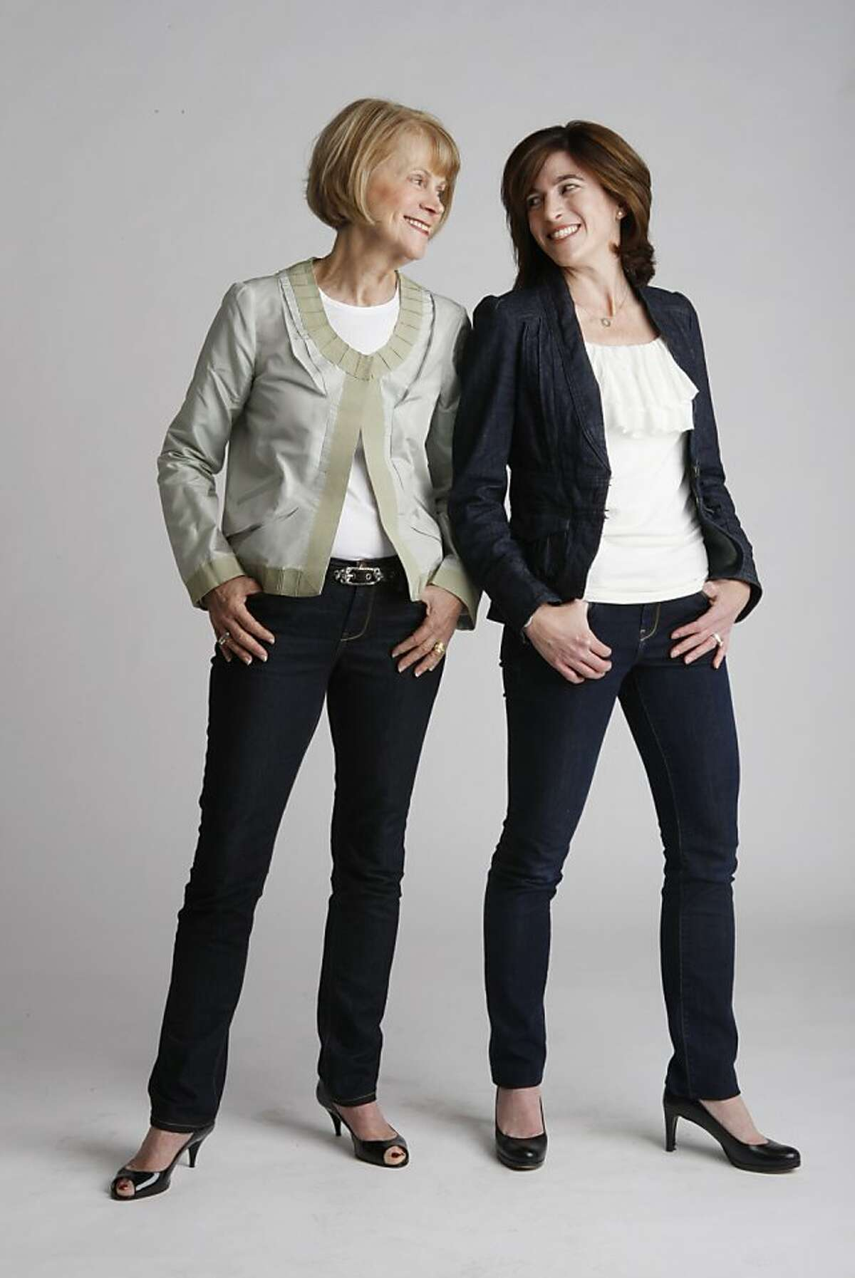 Diane Einstein and Carolyn Einstein Dewar pose for the Style Maker feature in studio on Thursday, April 28, 2011.
