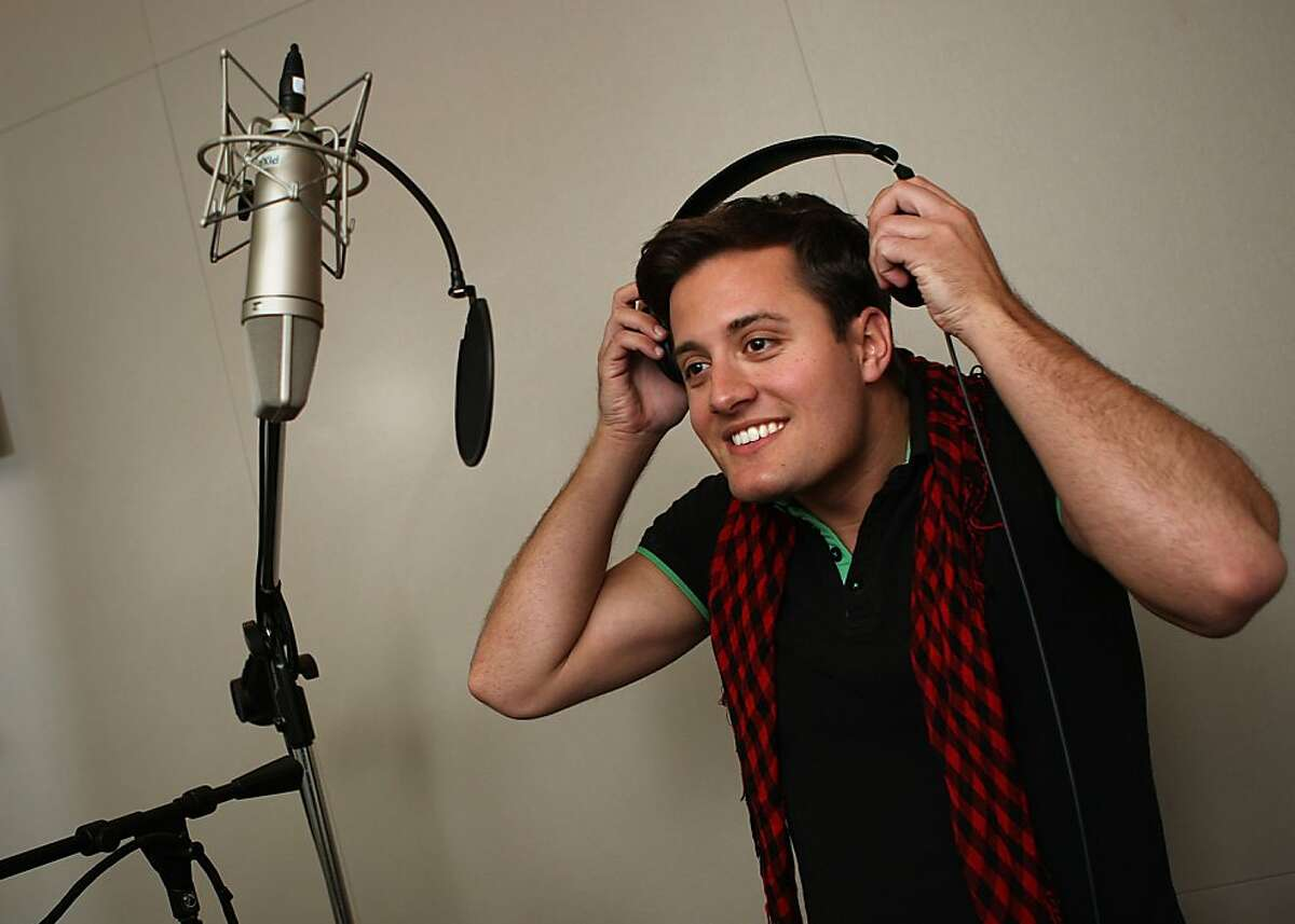 Pixar animator Nick Pitera likes singing during his off time in Emeryville, Calif., on Monday, May 2, 2011.