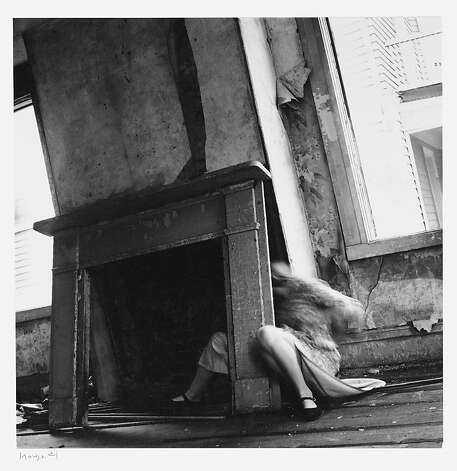 11.	Francesca Woodman, House #4, Providence, Rhode Island, 1976; gelatin silver print; 5 ¾ x 5 ¾ in. (14.6 x 14.6 cm); courtesy George and Betty Woodman; © George and Betty Woodman Photo: Francesca Woodman