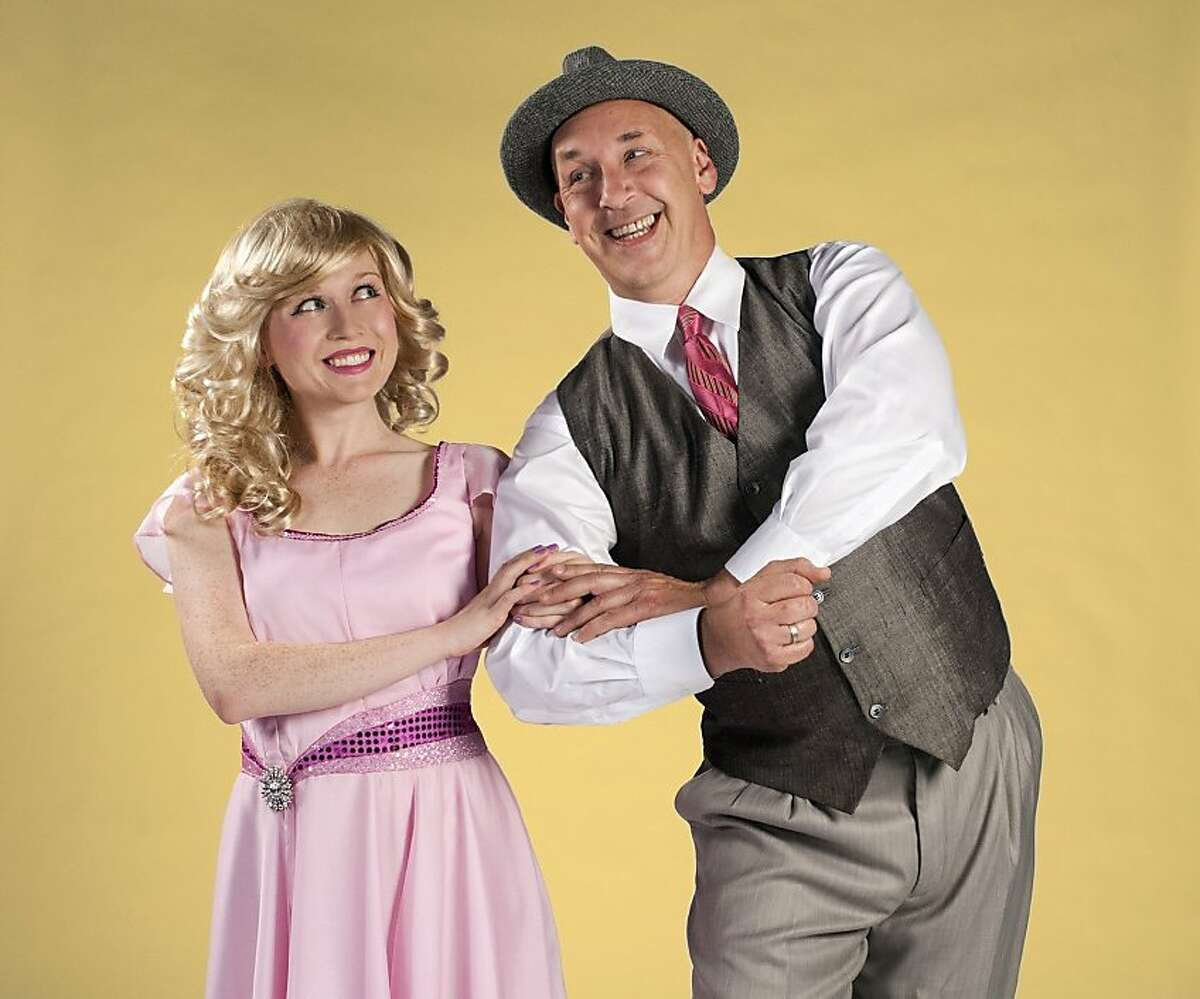 Xanadu 2: Chloe Condon is Kira, the muse from Mt. Olympus, and Joe Wicht is real estate mogul Daniel in the New Conservatory Theatre Center production of