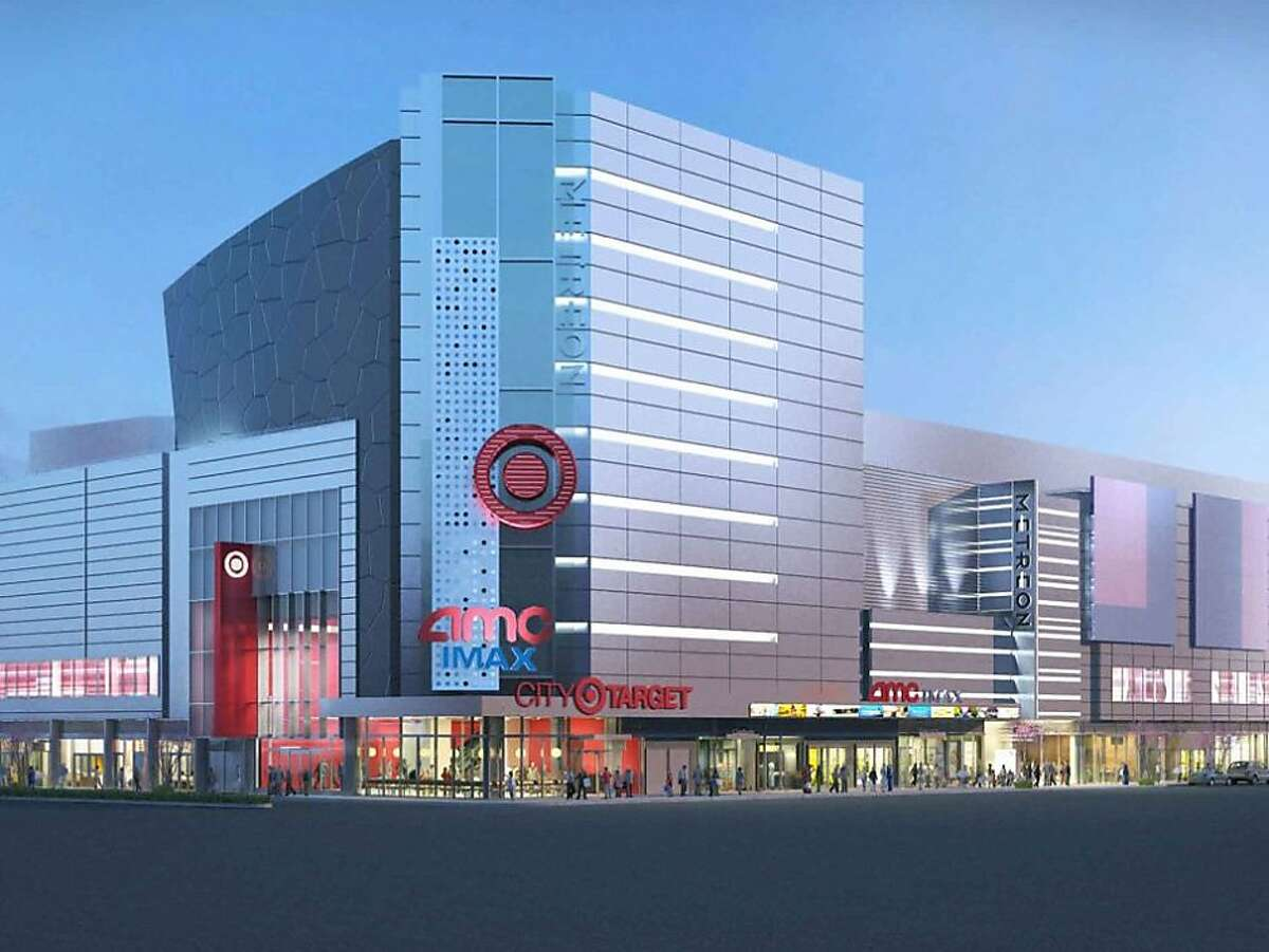 This artist's rendering shows how the Metreon will change. The center will be completely remodeled to accommodate Target on the second floor.
