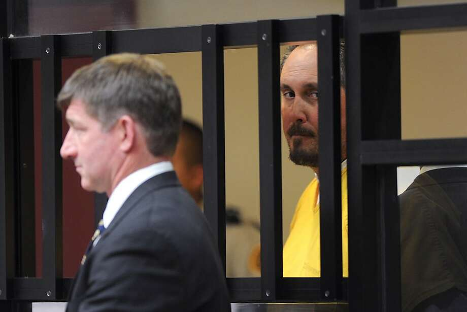 San Ramon Police officer Louis Lombardi (R) stands with his attorney, Harry Stern as he is arraigned on drug and other charges in Contra Costa Superior Court  on May 6, 2011 in Martinez, Calif.  Pool Photograph by Karl Mondon/Contra Costa Times Photo: Karl Mondon, Pool/Special To The Chronicle