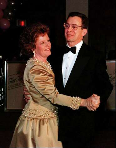 Stamford Mayor Dan  Malloy dances with his wife Cathy Malloy during the inaugural ball held at the Stamford Sheraton Hotel  in January 1996. Photo: File Photo / Stamford Advocate File Photo