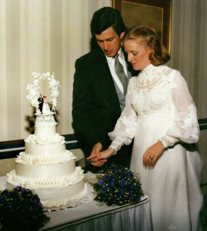 Dan Malloy and Cathy Lambert Malloy on their wedding day in 1982. Photo: Contributed Photo