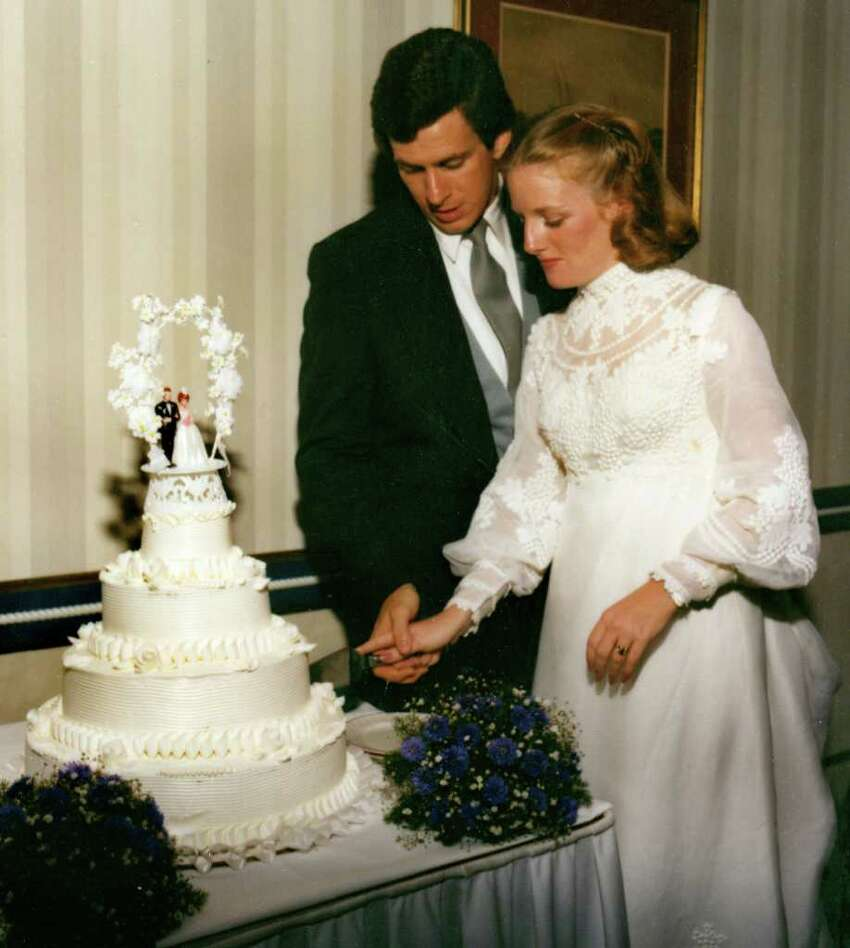 Dan Malloy and Cathy Lambert Malloy on their wedding day in 1982.