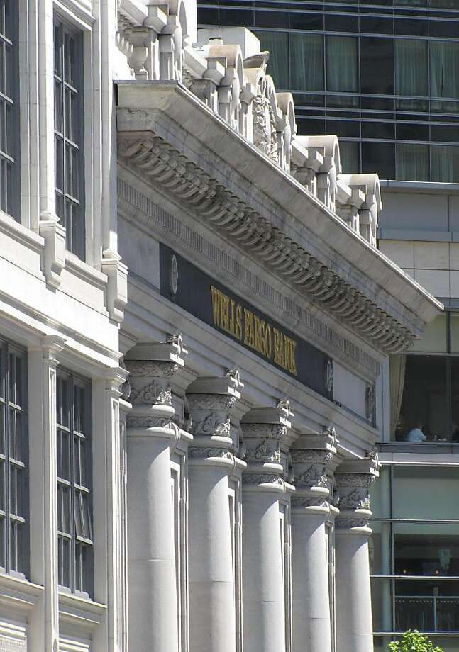 Built for Union Trust Co., now home to a Wells Fargo, the classical building at 744 Market St. kicks off Grant Avenue in grand style. Photo: John King