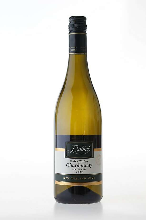 Babich Unoaked Chardonnay as seen in San Francisco, California, on Wednesday May 4, 2011. Photo: Craig Lee, Special To The Chronicle