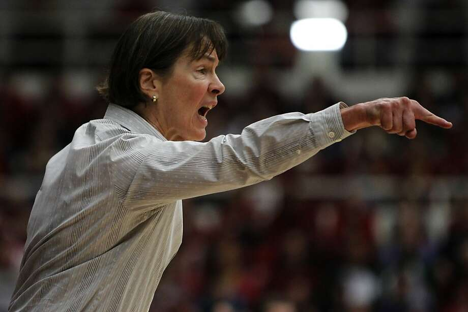 Stanford head coach Tara VanDerveer shouts instructions to players in the second half of the Stanford Cardinal's 71-59 win over the UConn Huskies at Maples Pavilion in Stanford, Calif., on Thursday, Dec. 30, 2010. Photo: Paul Chinn, The Chronicle